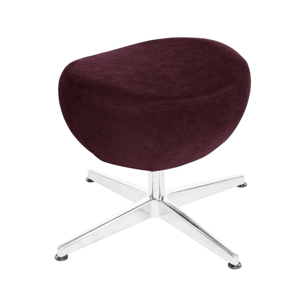 Vínově červená otočná stolička/podnožka My Pop Design Vostell