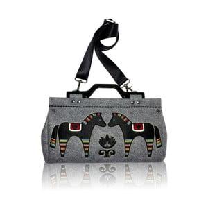 Plstěná vyšívaná kabelka Goddess Grey