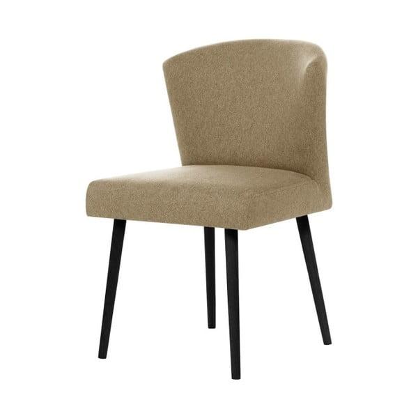 Pískově hnědá židle s černými nohami My Pop Design Richter