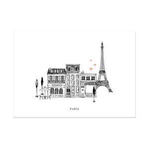 Plakát Leo La Douce Paris Mon Amour, 29,7x42cm