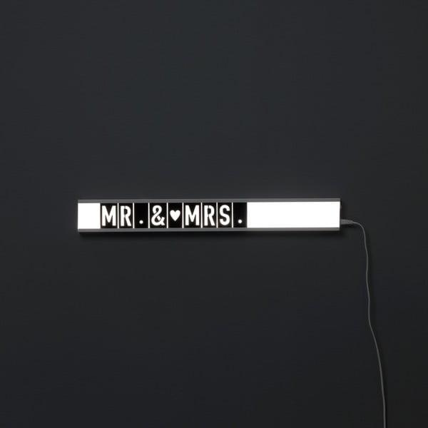 Bílá světelná cedule Design Twist Lensk