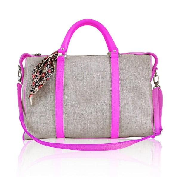 Kožená kabelka Iris Big, růžová