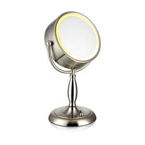 Stolní zrcadlo s osvětlením ve stříbrné barvě Markslöjd Face, ø 16,2 cm