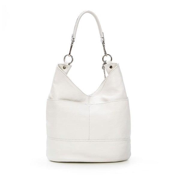 Kožená kabelka Guido, bílá