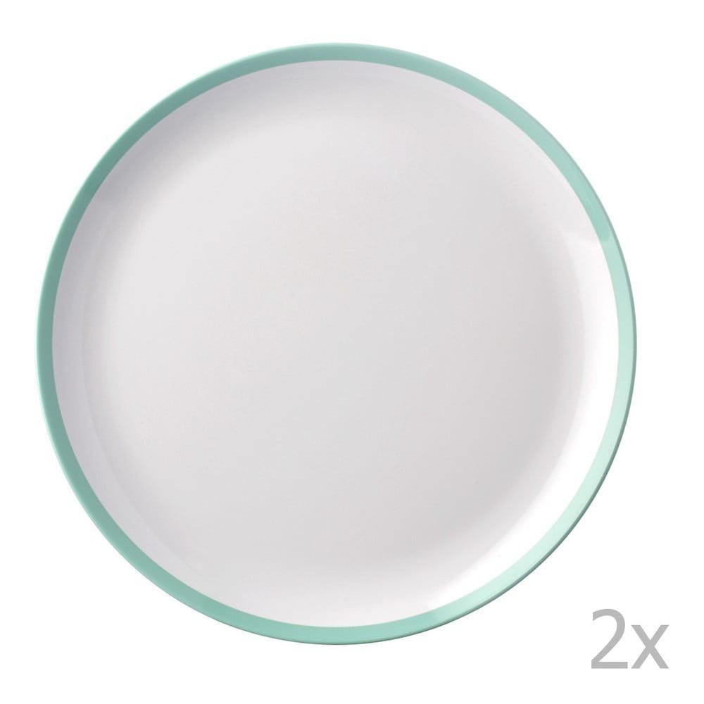 Sada 2 talířů se zeleným okrajem Rosti Mepal Flow,23cm