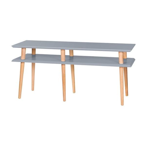 Tmavě šedý konferenční stolek Ragaba Mugo,délka119cm