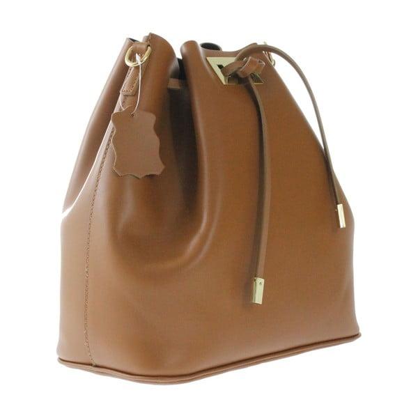Hnědá kožená taška Erica