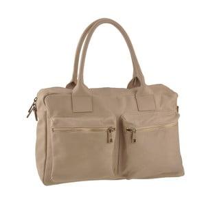 Béžová kožená kabelka Ore Diece Stama