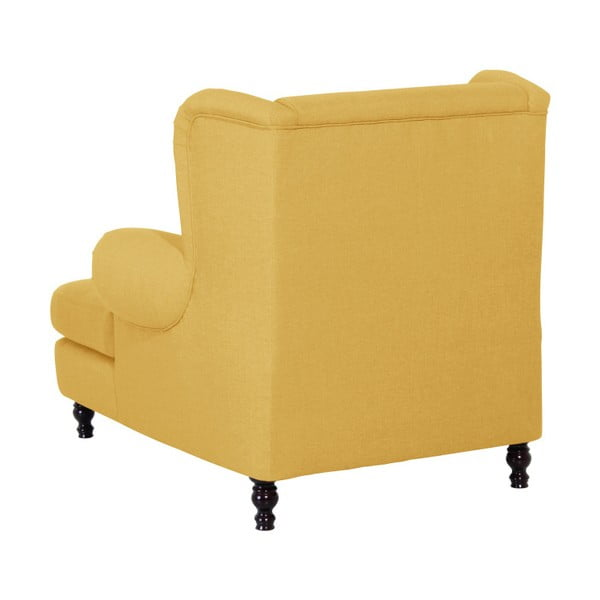 Žluté křeslo ušák Max Winzer Mareille Yellow