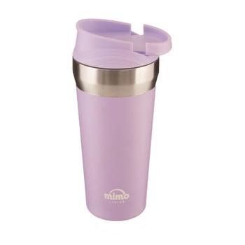 Pahar termos de voiaj Premier Housewares Travel, 380 ml, roz imagine