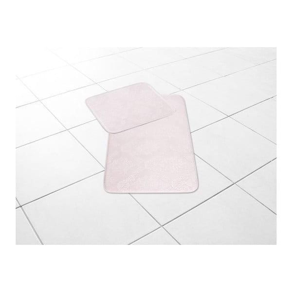 Sada 2 pudrově růžových koupelnových předložek Jocelyn