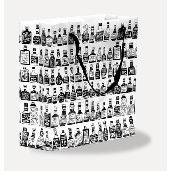Dárková taška U Studio Design Bottles, 13,7 x 13,7 cm