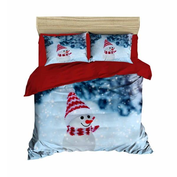 Leo karácsonyi, kétszemélyes ágyneműhuzat lepedővel, 200 x 220 cm