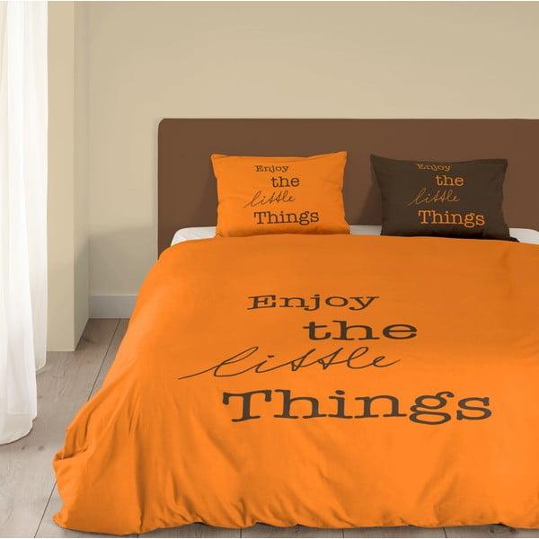Oranžové bavlněné povlečení Muller Textiels Enjoy, 140x200cm