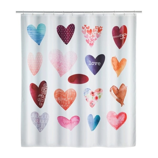 Perdea duș Wenko Love, 180x200cm
