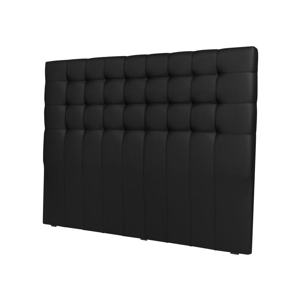 Černé čelo postele Cosmopolitan design Torino, šířka 202 cm