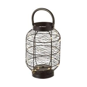 Černý kovový lampion Unimasa, výška 22 cm