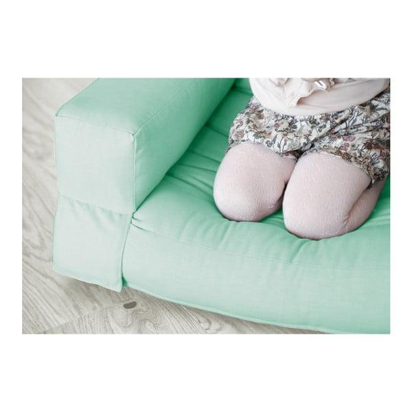 Mentolově zelené dětské rozkládací křesílko Karup Mini Hippo