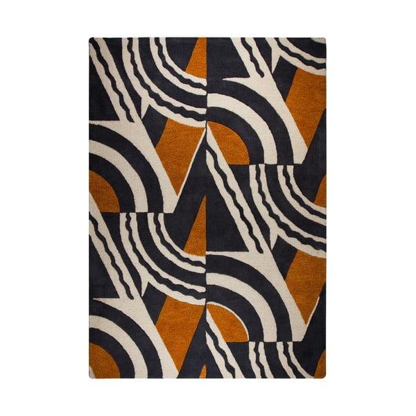 Rythm Lifestyle barna-narancssárga kézzel szőtt szőnyeg, 120x170cm - Flair Rugs