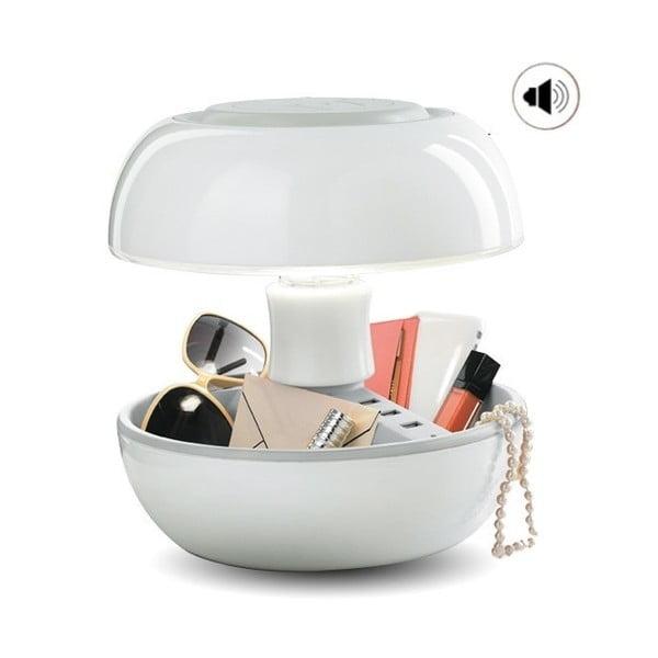 Stolní lampa, nabíječka a reprák v jednom Joyo Classic, bílá
