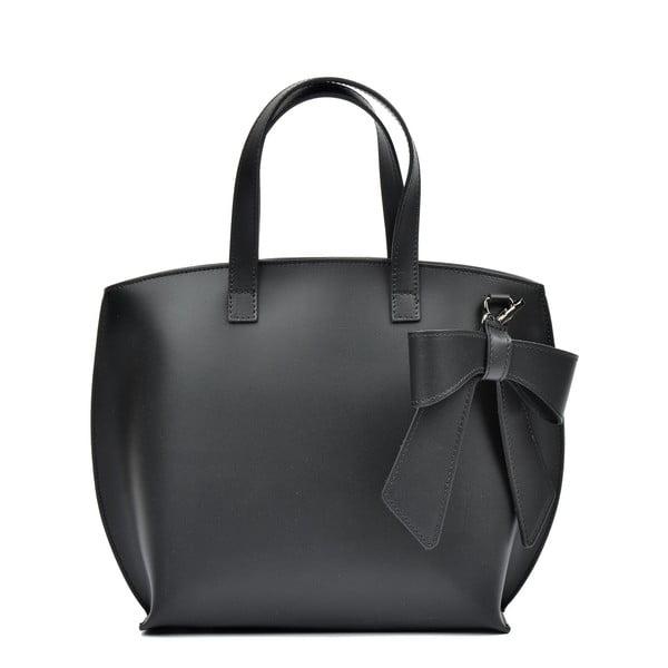 Černá kožená kabelka Luisa Vannini Lia