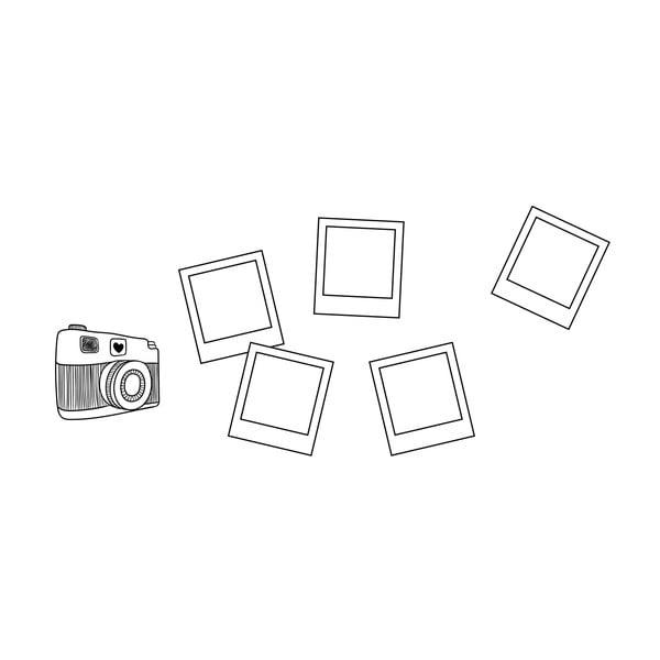 Samolepka na stěnu Polaroid