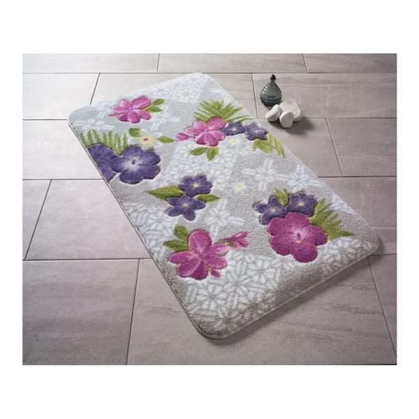 Fioletowy dywanik łazienkowy we wzory Confetti Bathmats Tropical, 80x140 cm