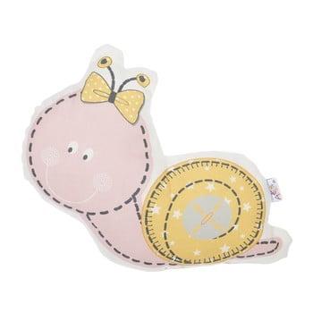 Pernă din amestec de bumbac pentru copii Apolena Pillow Toy Snail, 30 x 28 cm, roz de la Apolena
