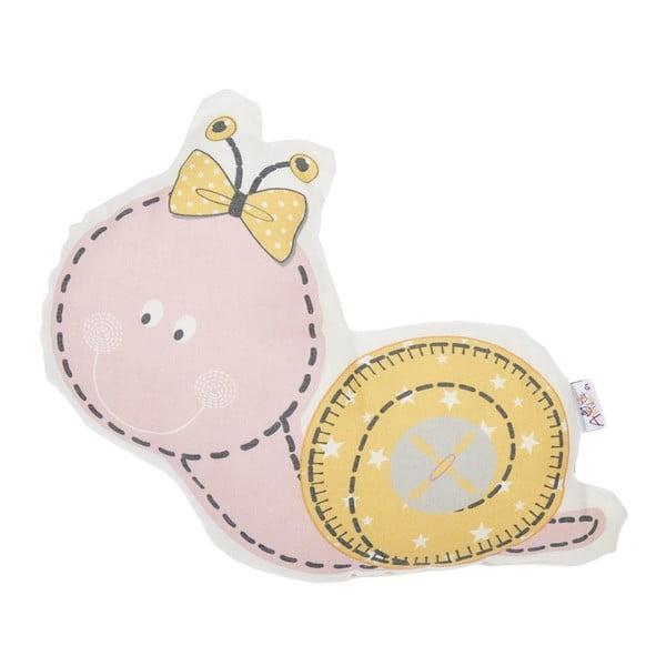Pillow Toy Snail rózsaszín pamut keverék gyerekpárna, 30 x 28 cm - Apolena