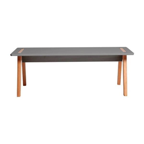 Šedý konferenční stolek Marckeric Dana