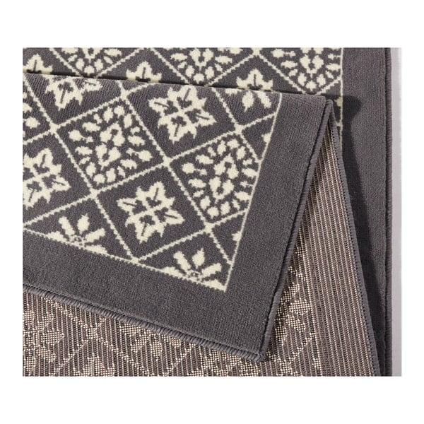 Šedobílý koberec Hanse Home Gloria Tile, 80x300cm