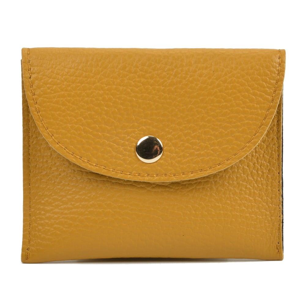 Žlutá kožená peněženka Sofia Cardoni