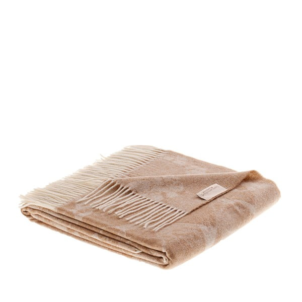 Vlněný pléd Danimarca 130x180 cm, hnědý