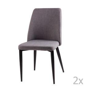 Sada 2 světle šedých jídelních židlí sømcasa Melissa