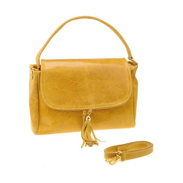 Kožená kabelka Diadema, žlutá