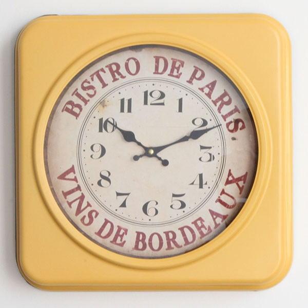 Kovové hodiny Bistro de Paris, 35x35 cm