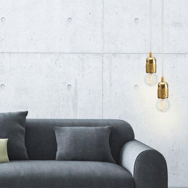 Zlato-bílý závěsný kabel Bulb Attack Uno
