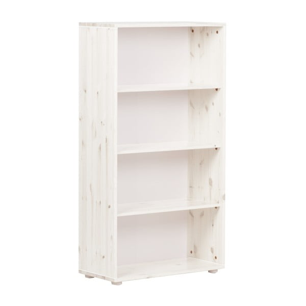 Biela detská knižnica z borovicového dreva Flexa Classic, výška 133 cm