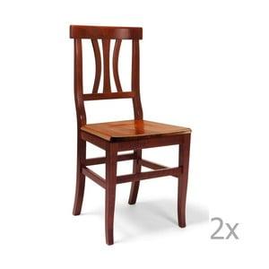 Set 2 scaune din lemn Castagnetti Insieme