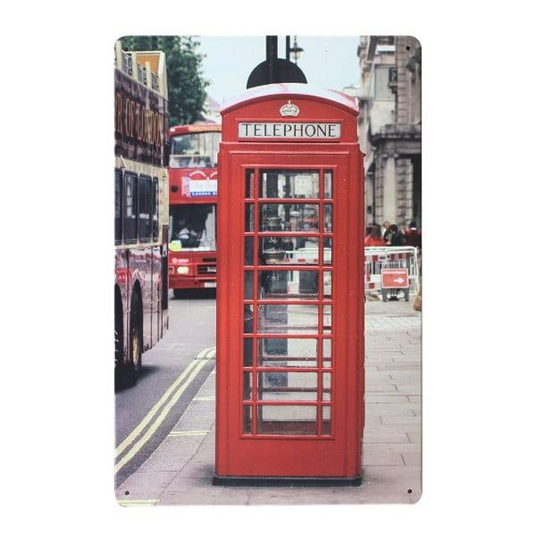 Cedule London Kiosk, 20x30 cm
