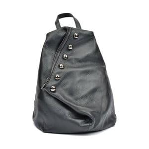 Černý kožený dámský batoh Luisa Vannini Fruhlo