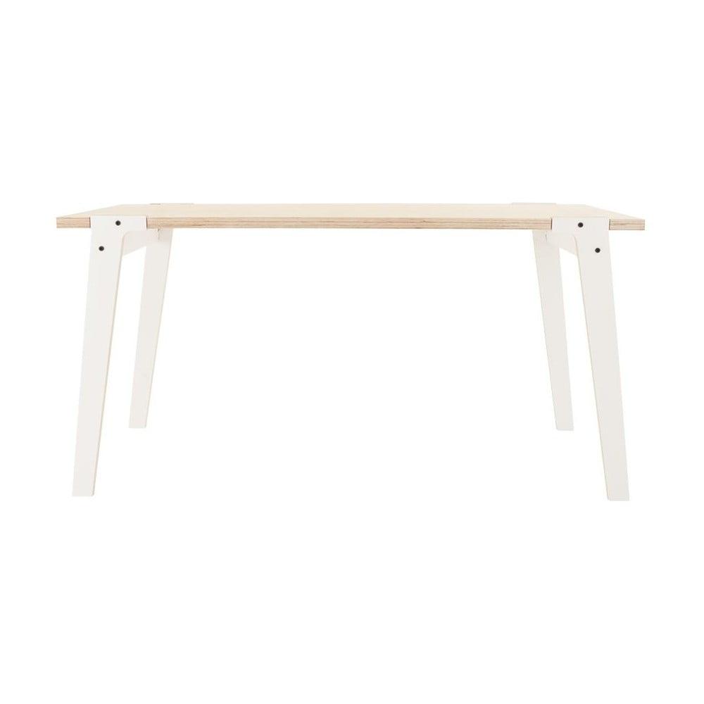 Bílý jídelní/pracovní stůl rform Switch, deska 150 x 75 cm