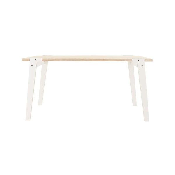 Biely jedálenský/pracovný stôl rform Switch, doska 150×75cm
