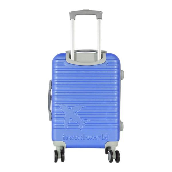 Modré kabinové zavazadlo na kolečkách Travel World Aiport