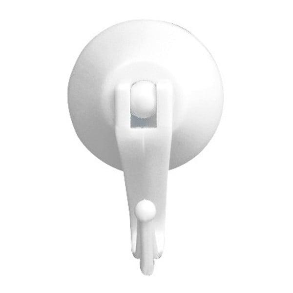 Set 2 cârlige de perete cu ventuză Wenko Levered Suction Hooks Ballo, alb