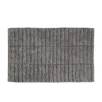 Covor baie din bumbac Zone Tiles, 50 x 80 cm, gri de la Zone