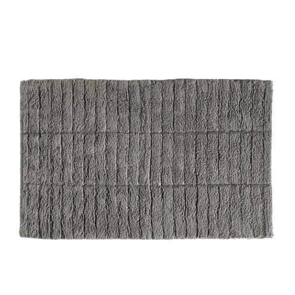 Šedá bavlněná koupelnová předložka Zone Tiles, 50 x 80 cm