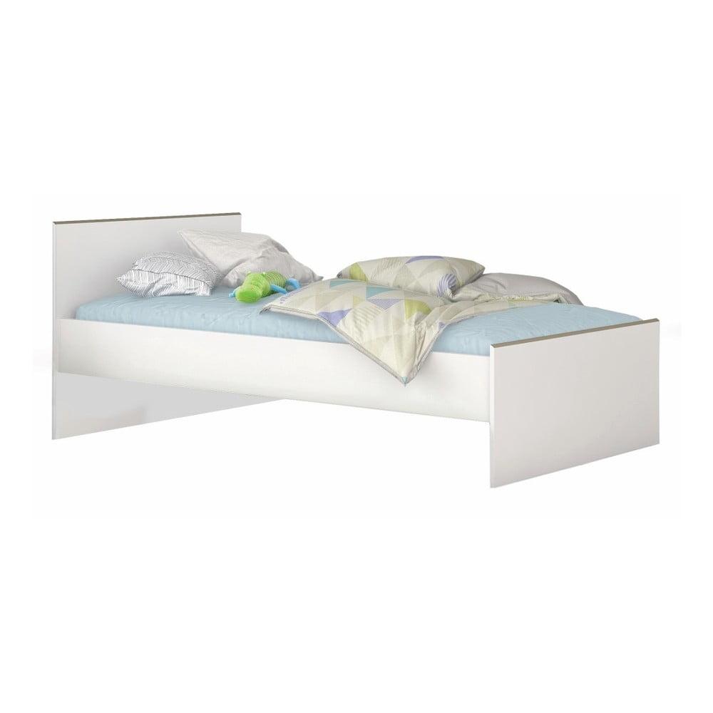 Bílá postel Demeyere Kobe, 90 x 200 cm