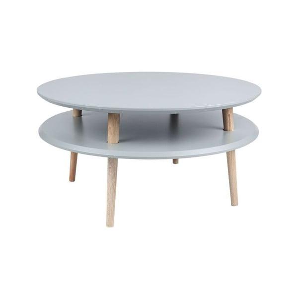 Konferenční stolek UFO 35x70 cm, tmavě šedý