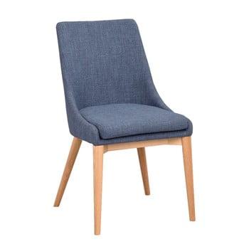 Scaun tapițat cu picioare maro RowicoBea, albastru de la Rowico